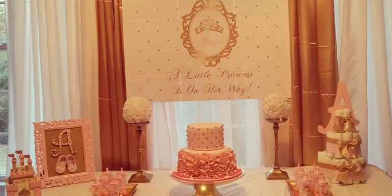 Princess Baby Shower Pink and Gold