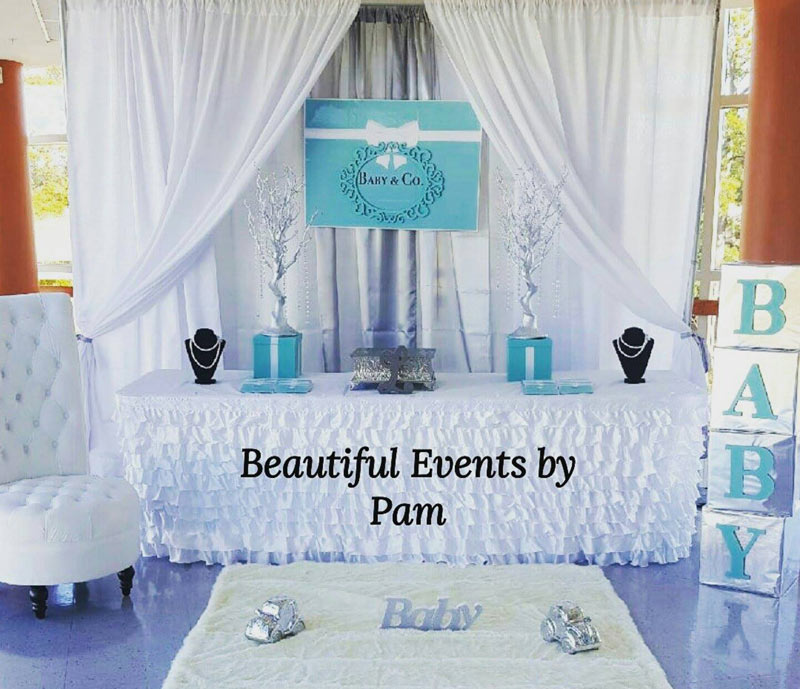 Tiffany & Co Backdrop for Baby Shower