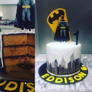 Batman cake edible design