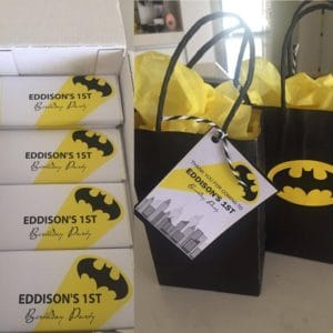 batman candy wrappers and gift tags