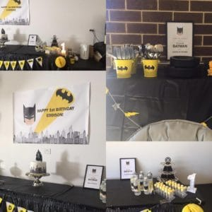 batman poster for birthday party