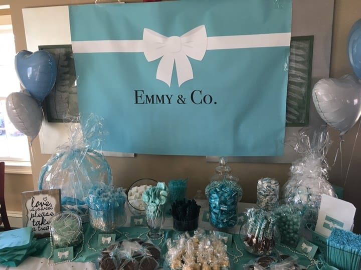 Tiffany and Co banner for 1st birthday